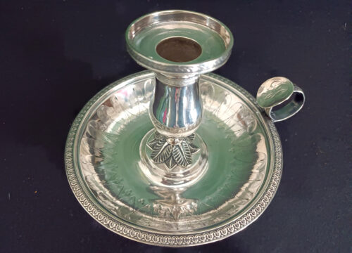 Bougeoir-candlestick-silver-Paris-Empire