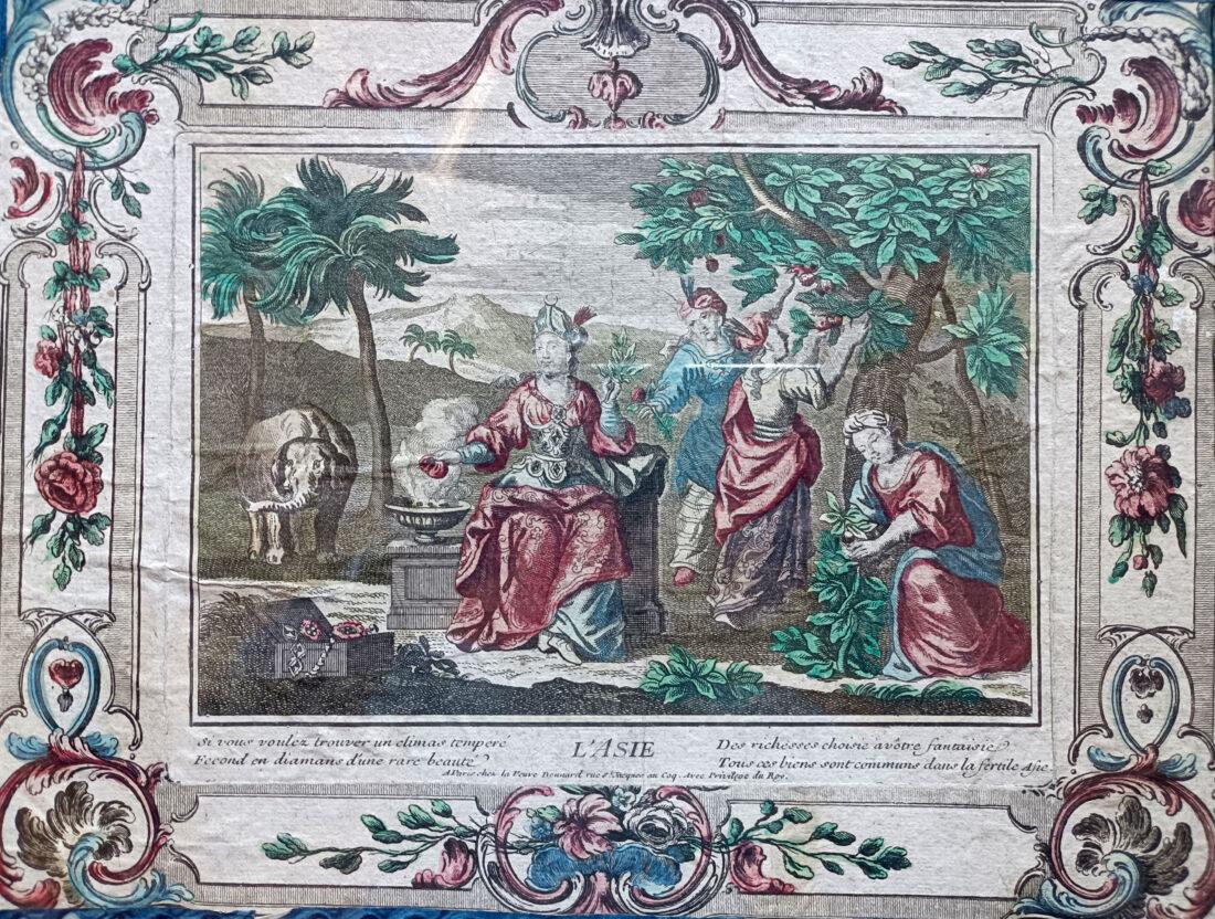 gravure-gouache-XVIIIeme-Asie